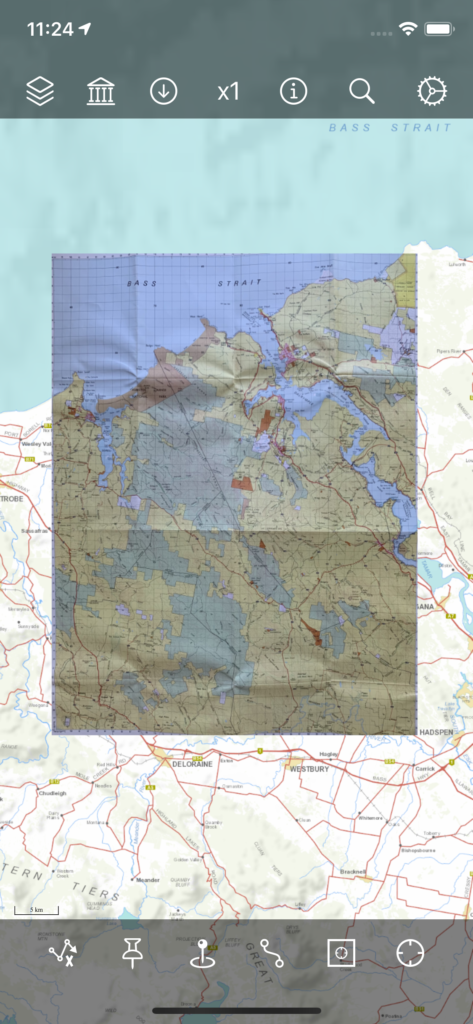 Georeferenced Layer on the Map
